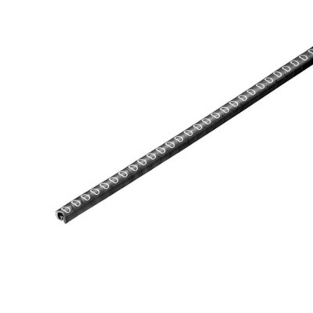 Mærkningsring Weidmüller CLI C 02-3 SW/WS 0 CD 1568241503 Sort 500 stk