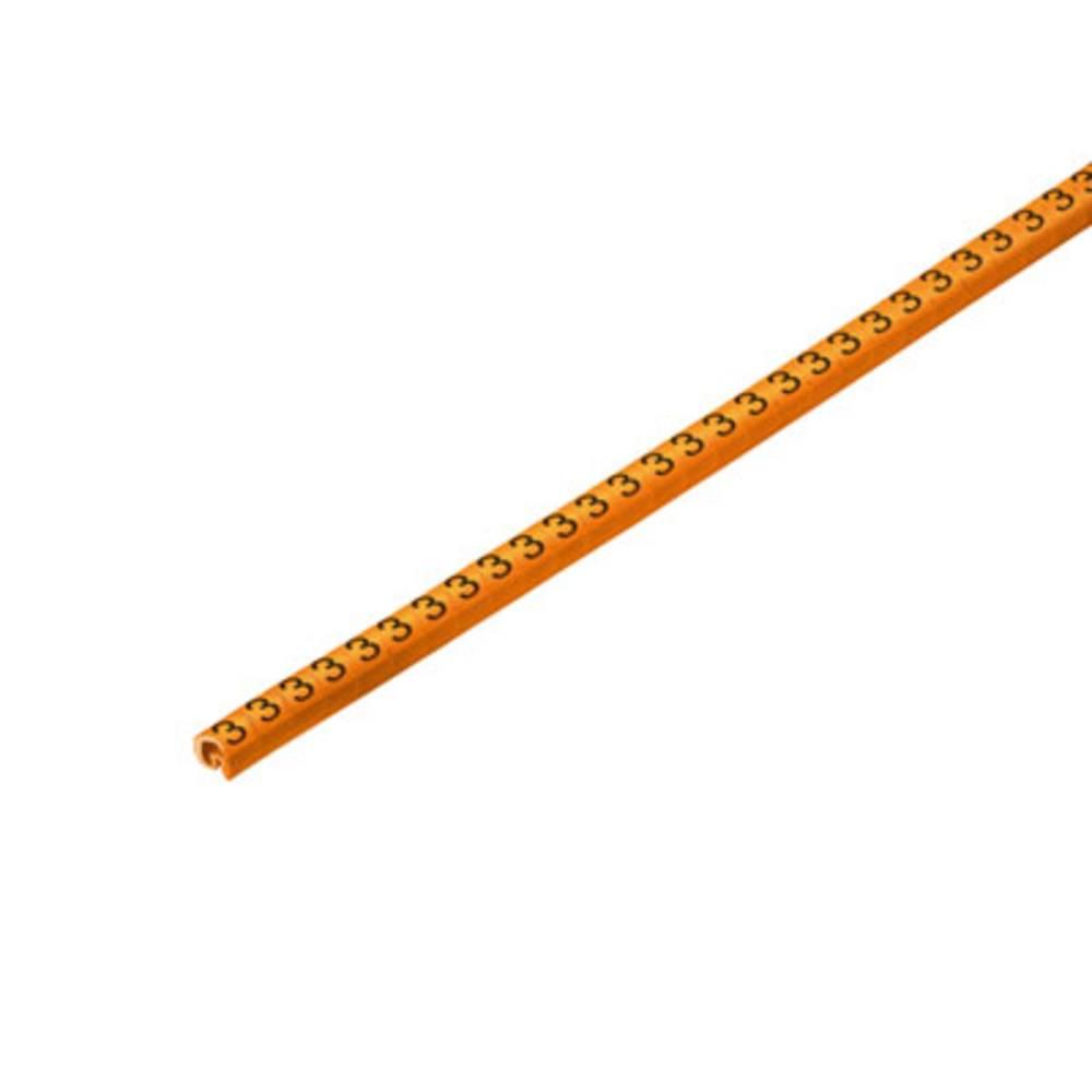 Mærkningsring Weidmüller CLI C 02-3 OR/SW 3 CD 1568241512 Orange 500 stk