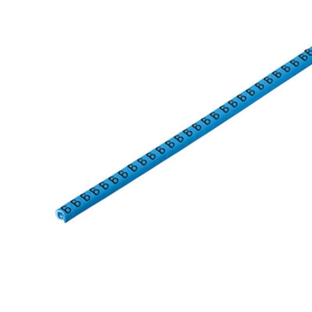 Mærkningsring Weidmüller CLI C 02-3 BL/SW 6 CD 1568241521 Atolblå 500 stk