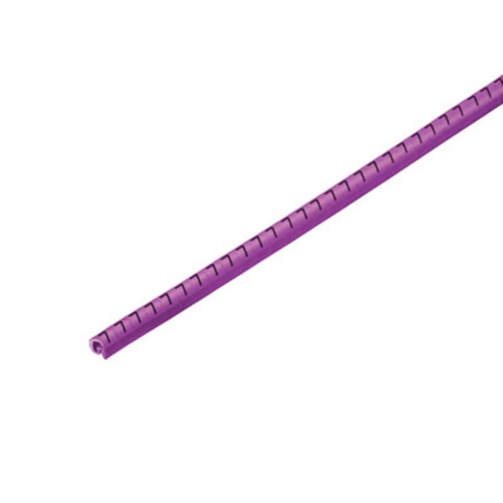 Mærkningsring Weidmüller CLI C 02-3 VI/SW 7 CD 1568241524 Violet 500 stk