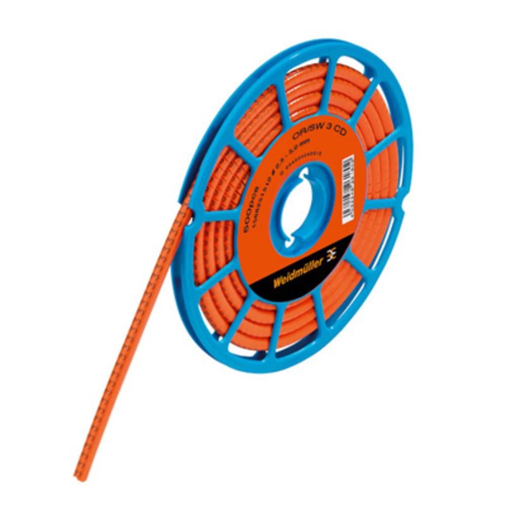 Mærkningsring Weidmüller CLI C 1-3 OR/SW 3 CD 1568251512 Orange 500 stk
