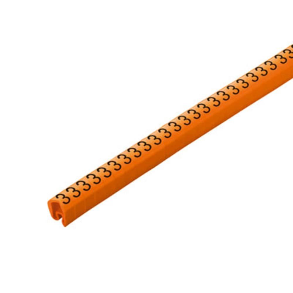 Mærkningsring Weidmüller CLI C 2-4 OR/SW 3 CD 1568261512 Orange 250 stk