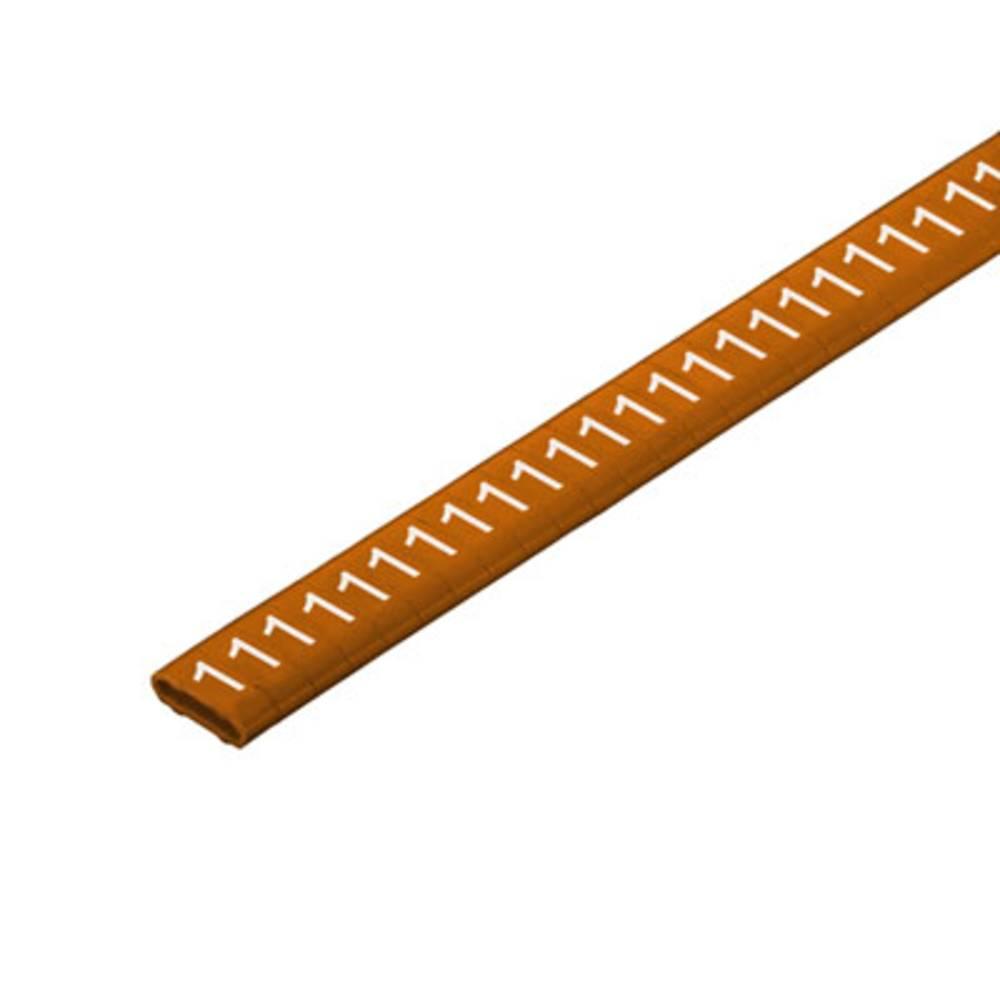 Mærkningsring Weidmüller CLI M 2-4 BR/WS 1 CD 1568301506 Brun 500 stk