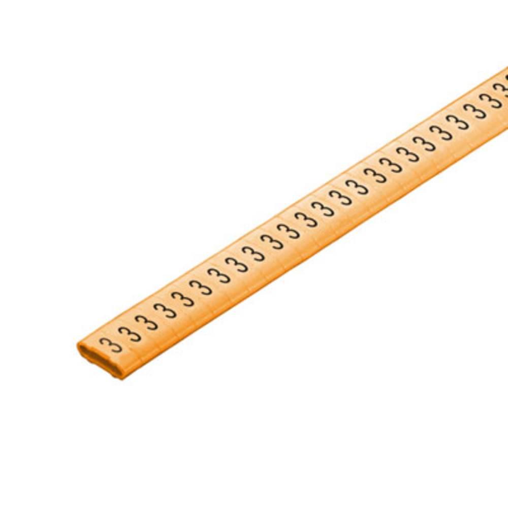 Mærkningsring Weidmüller CLI M 2-4 OR/SW 3 CD 1568301512 Orange 500 stk