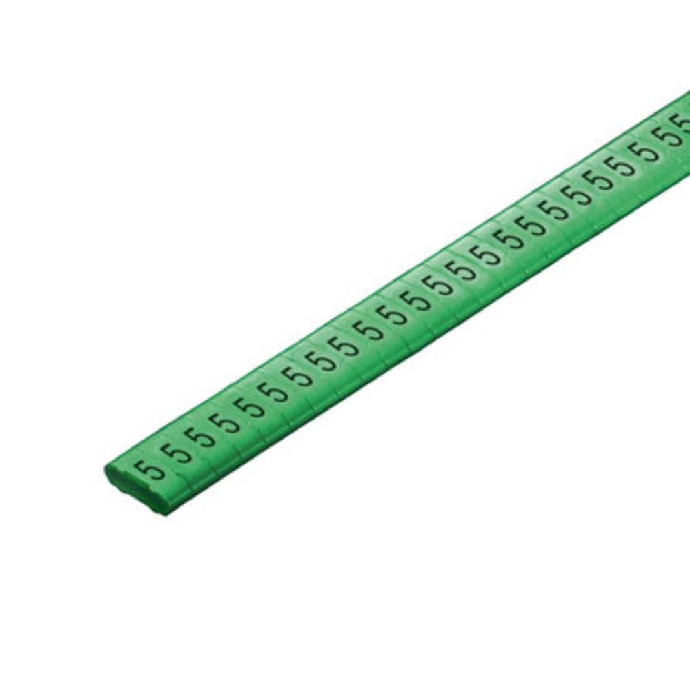 Mærkningsring Weidmüller CLI M 2-4 GN/SW 5 CD 1568301518 Grøn 500 stk