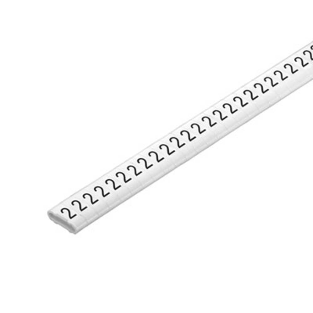 Mærkningsring Weidmüller CLI M 2-4 WS/SW 9 CD 1568301530 Hvid 500 stk
