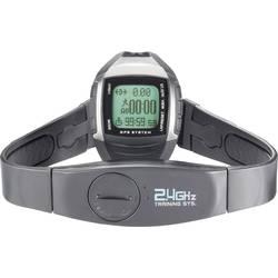 Multi NAV-3 GPS sat koji mjeri puls s remenom za prsa crni/srebrni