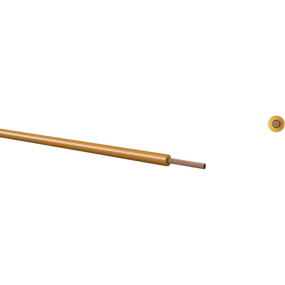 Finožični vodnik LiFY 1 x 0.50 mm rumene barve Kabeltronik 160105004 meterski
