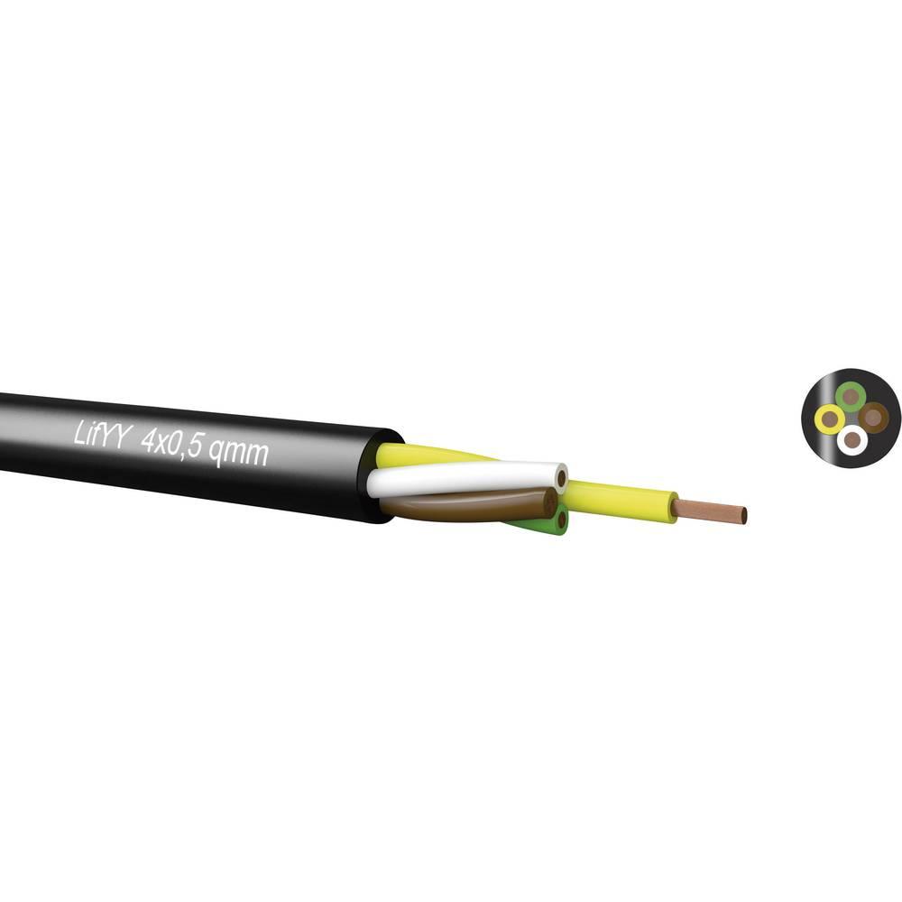 Krmilni kabel LifYY 2 x 0.25 mm črne barve Kabeltronik 240202500 meterski