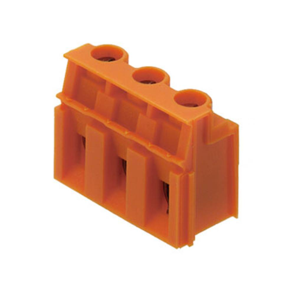 Skrueklemmeblok Weidmüller LP 7.62/03/90 3.2SN OR BX 4.00 mm² Poltal 3 Orange 100 stk