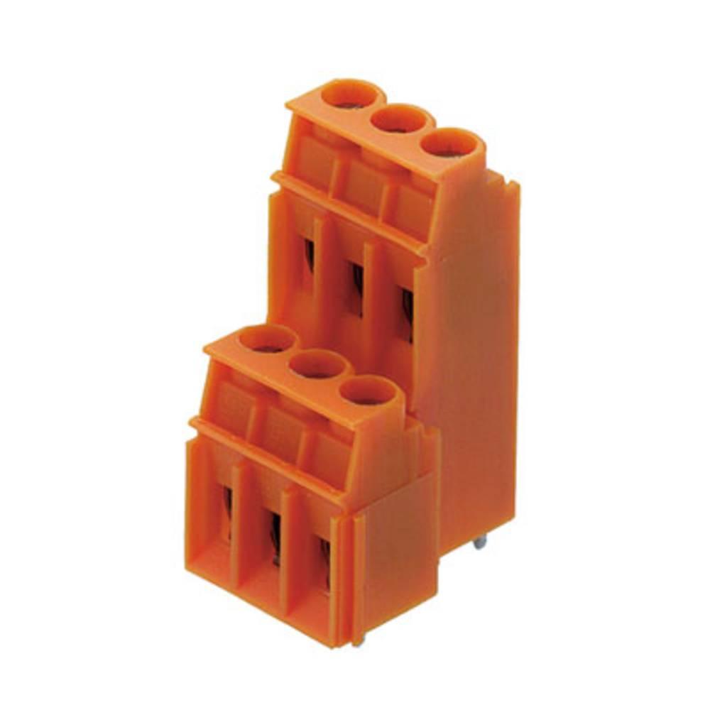 Dobbeltrækkeklemme Weidmüller LP2N 5.08/08/90 3.2SN OR BX 4.00 mm² Poltal 8 Orange 50 stk