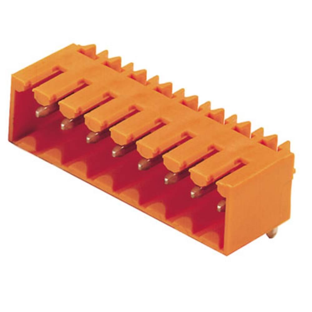 Vtični konektor za tiskana vezja oranžne barve Weidmüller 1605070000 vsebuje: 100 kosov