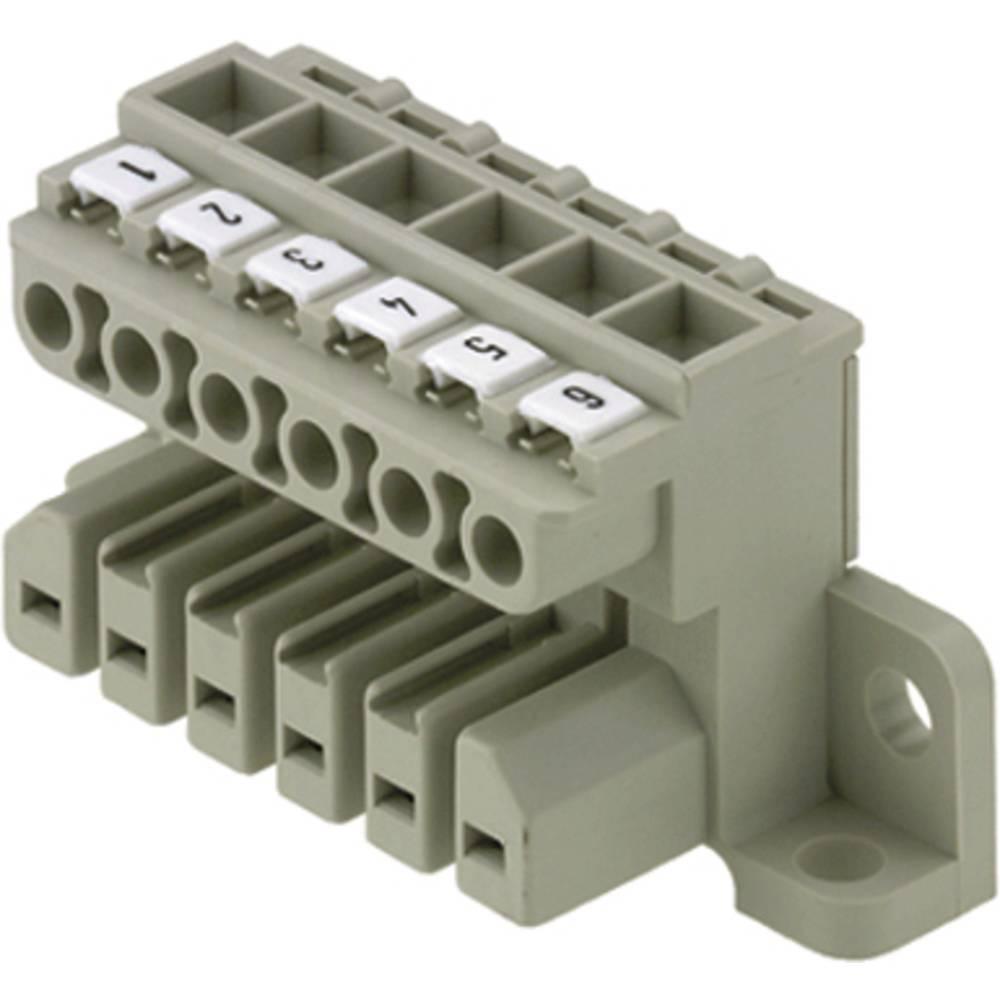 Tilslutningskabinet-kabel ST (value.1360603) Samlet antal poler 4 Weidmüller 1612950000 Rastermål: 7 mm 10 stk