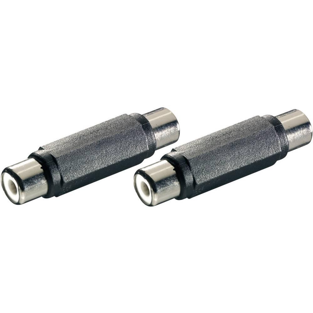 SpeaKa Professional-Audio adapter, ženski činč konektor/ženski činč konektor, 2 kosa