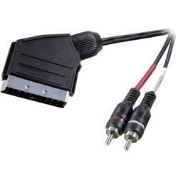SCART / RCA Audio Anslutningskabel SpeaKa Professional 2 m 1 st Svart