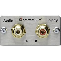 Stereo RCA (R/L) Oehlbach PRO IN MMT AUDIO 0 m Silver