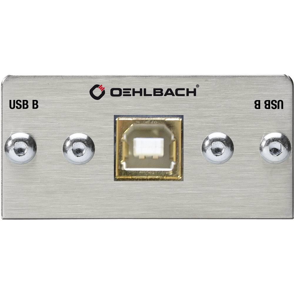 USB 2.0 adapter [1x USB 2.0 utikač B - 1x USB 2.0 utikač B] srebrni pozlaćeni kontakti Oehlbach