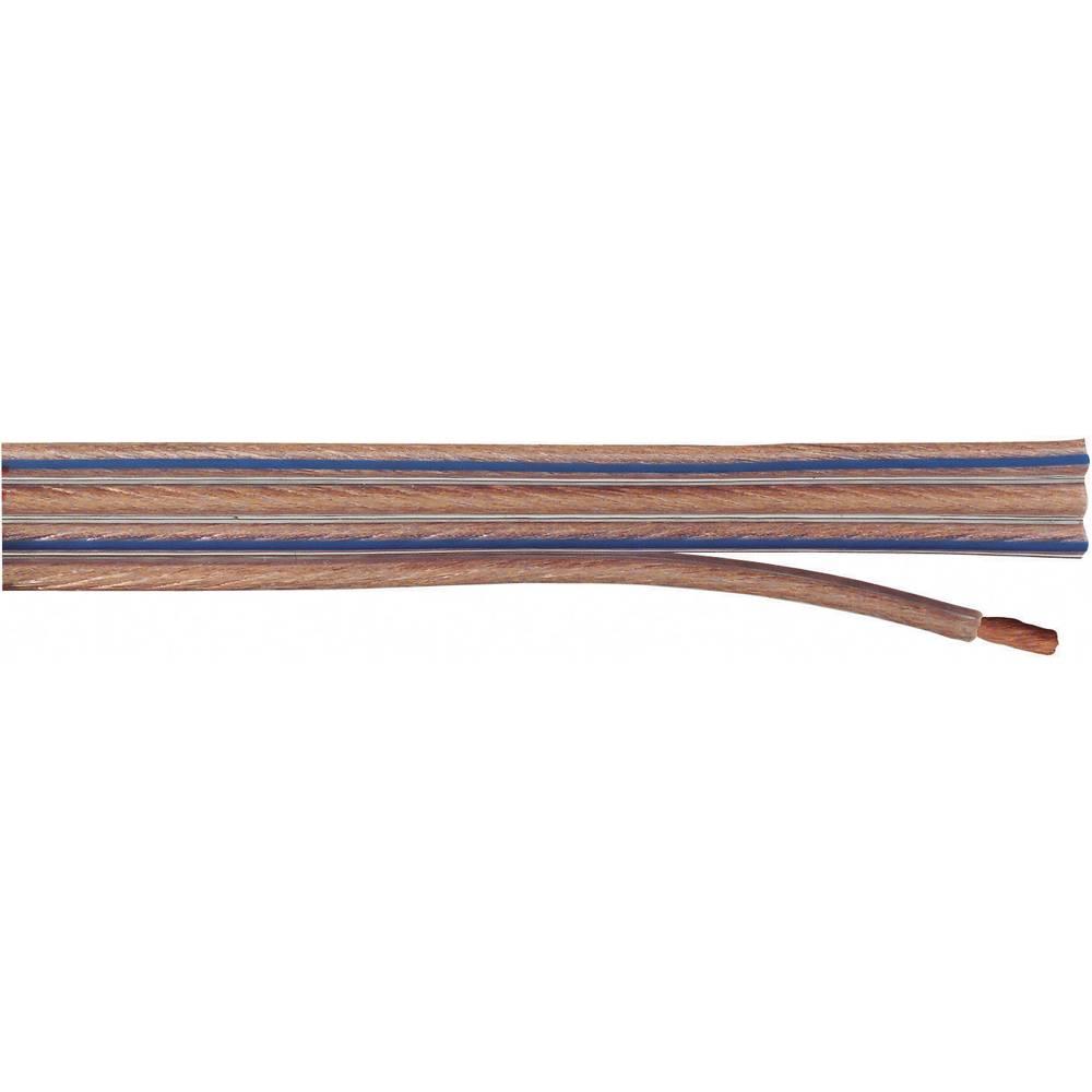 Posebni ploščati kabel za zvočnik, 4 x 1,5 mm2, prozoren, metrsko blago