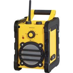 FM Byggradio Clatronic BR 816 AUX, MW, FM Gul, Svart