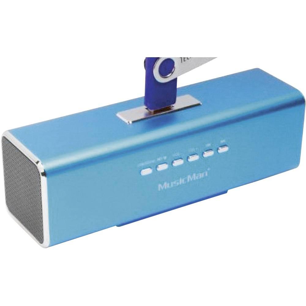 Zvočna postaja Technaxx MusicMan MA-Prenosni Mini-zvočnik, USB, microSD-reža za kartico, UKW-Radio, modra, 3430