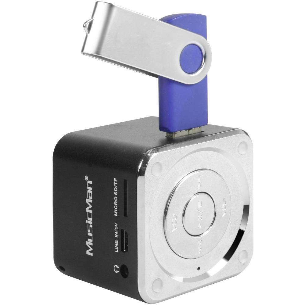 Mini zvočna postaja Technaxx MusicMan-Prenosni Mini-zvočnik, microSD-reža za kartico, AUX-In, črna, 3527