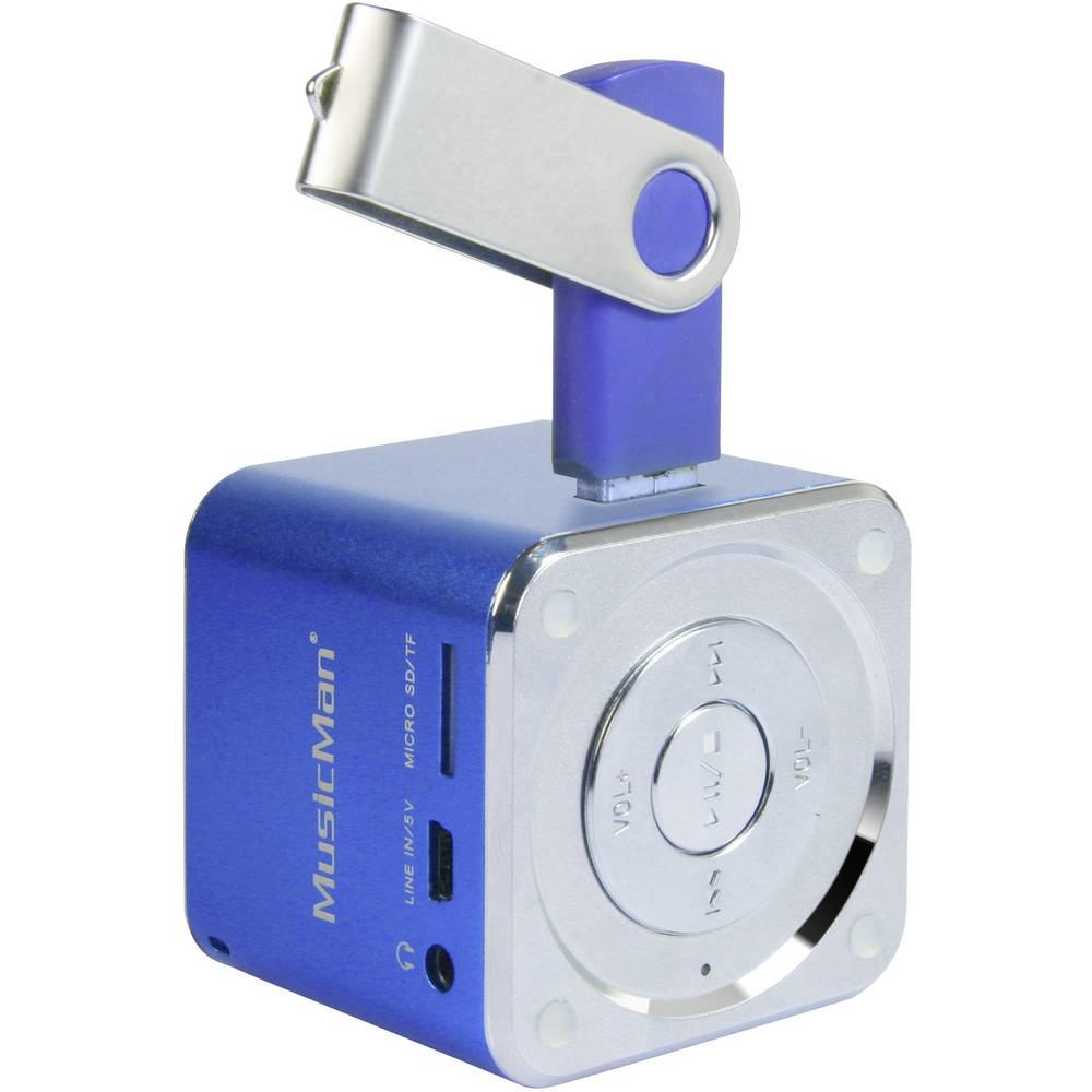 Mini zvočna postaja Technaxx MusicMan®-Prenosni Mini-zvočnik, microSD-reža za kartico, AUX-In, modra, 3530
