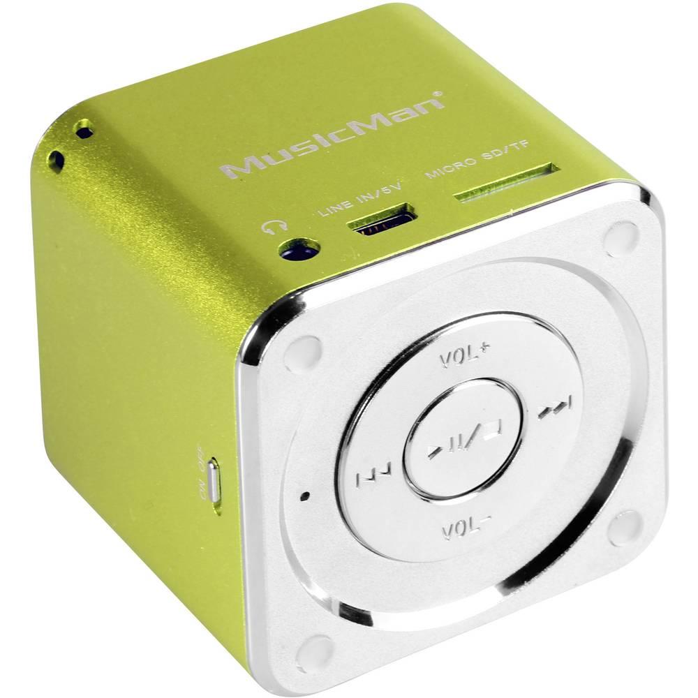 Mini zvočna postaja Technaxx MusicMan®-Prenosni Mini-zvočnik, microSD-reža za kartico, AUX-In, zelena, 3529