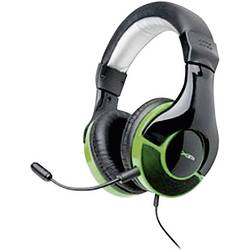 Gaming-headset G-Star HS-343XP Over Ear Svart, Grön