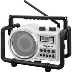 FM Byggradio PerfectPro USB Box 2 AUX, SD, FM, USB Vit