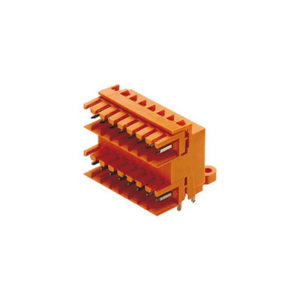 Vtični konektor za tiskana vezja oranžne barve Weidmüller 1633450000 vsebuje: 10 kosov