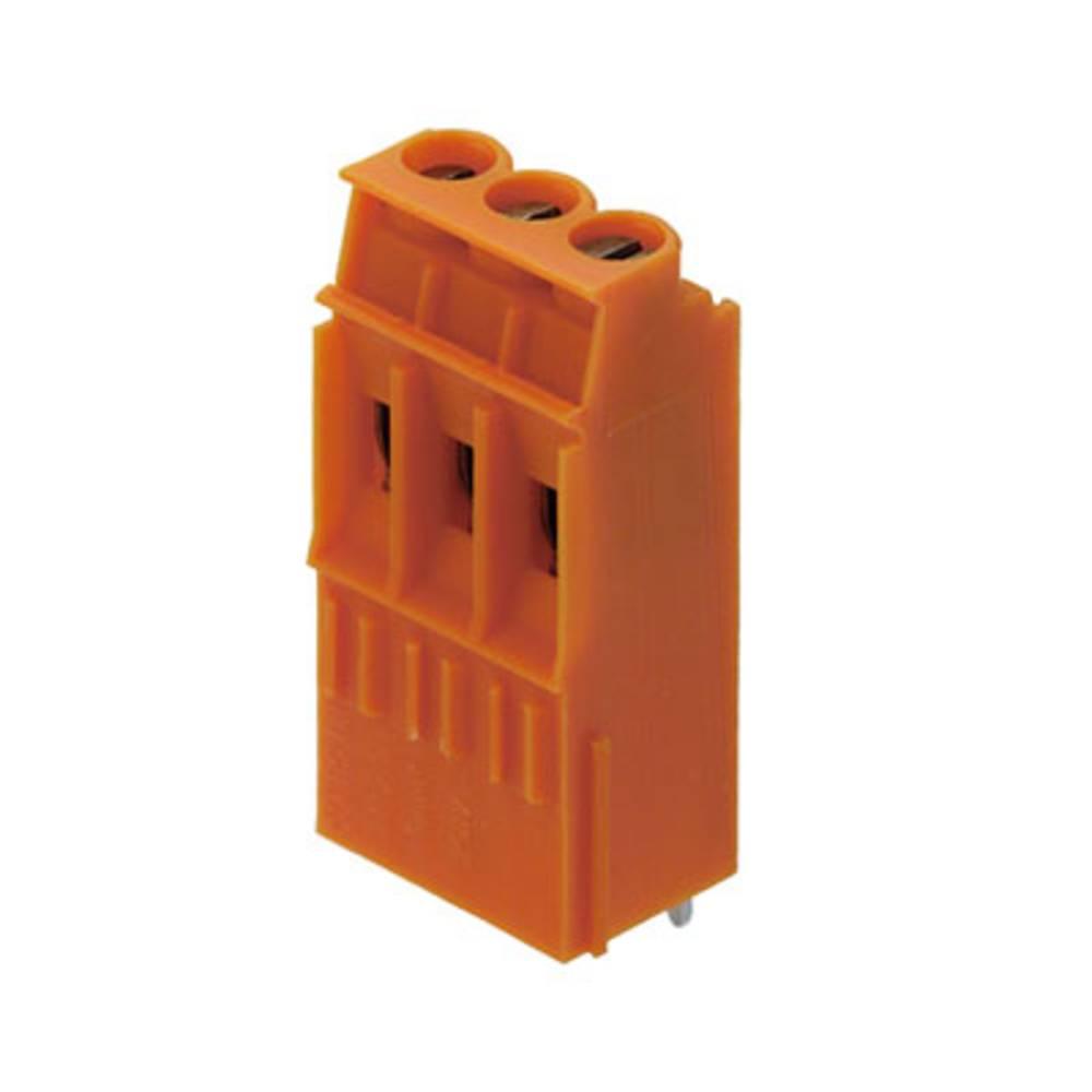 Skrueklemmeblok Weidmüller LP1N 5.08/02/90 3.2SN OR BX 4.00 mm² Poltal 2 Orange 100 stk