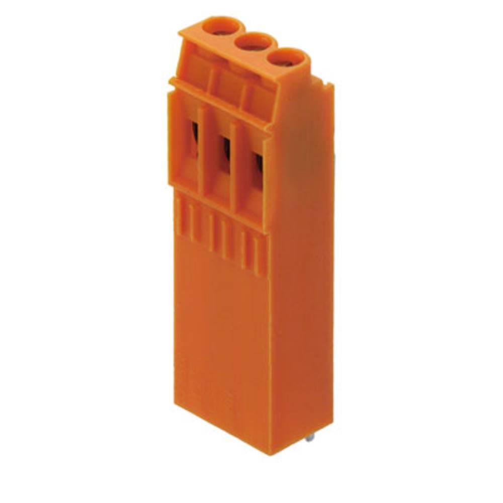 Skrueklemmeblok Weidmüller LP1H 5.08/03/90 3.2SN OR BX 4.00 mm² Poltal 3 Orange 100 stk
