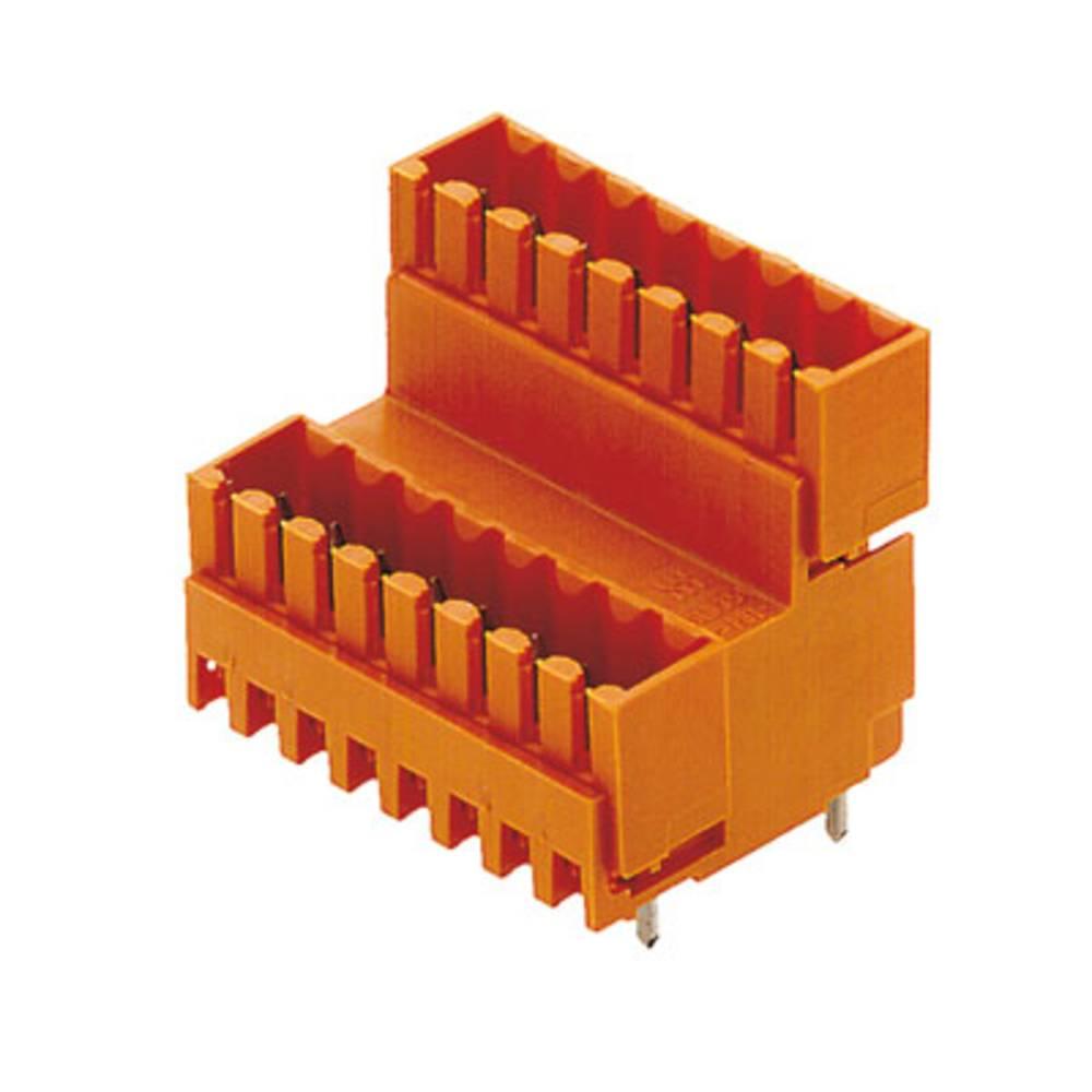 Vtični konektor za tiskana vezja oranžne barve Weidmüller 1641210000 vsebuje: 10 kosov