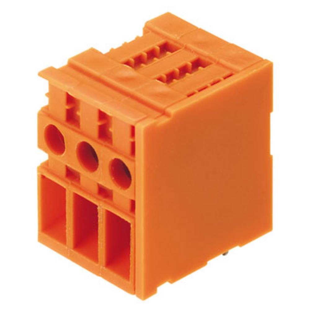 Skrueklemmeblok Weidmüller TOP4GS3/90 6.35 OR 4.00 mm² Poltal 3 Orange 100 stk