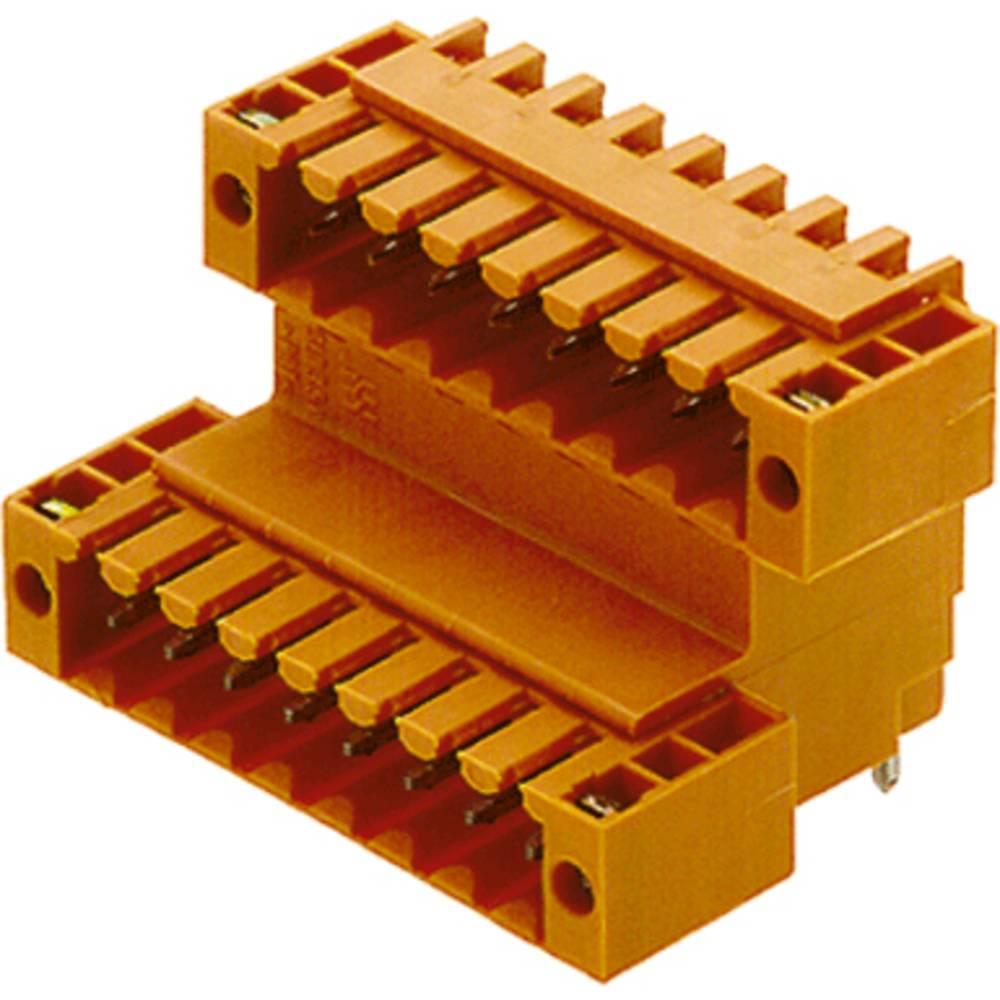 Indbygningsstiftliste (standard) Samlet antal poler 22 Weidmüller 1669660000 Rastermål: 3.50 mm 10 stk