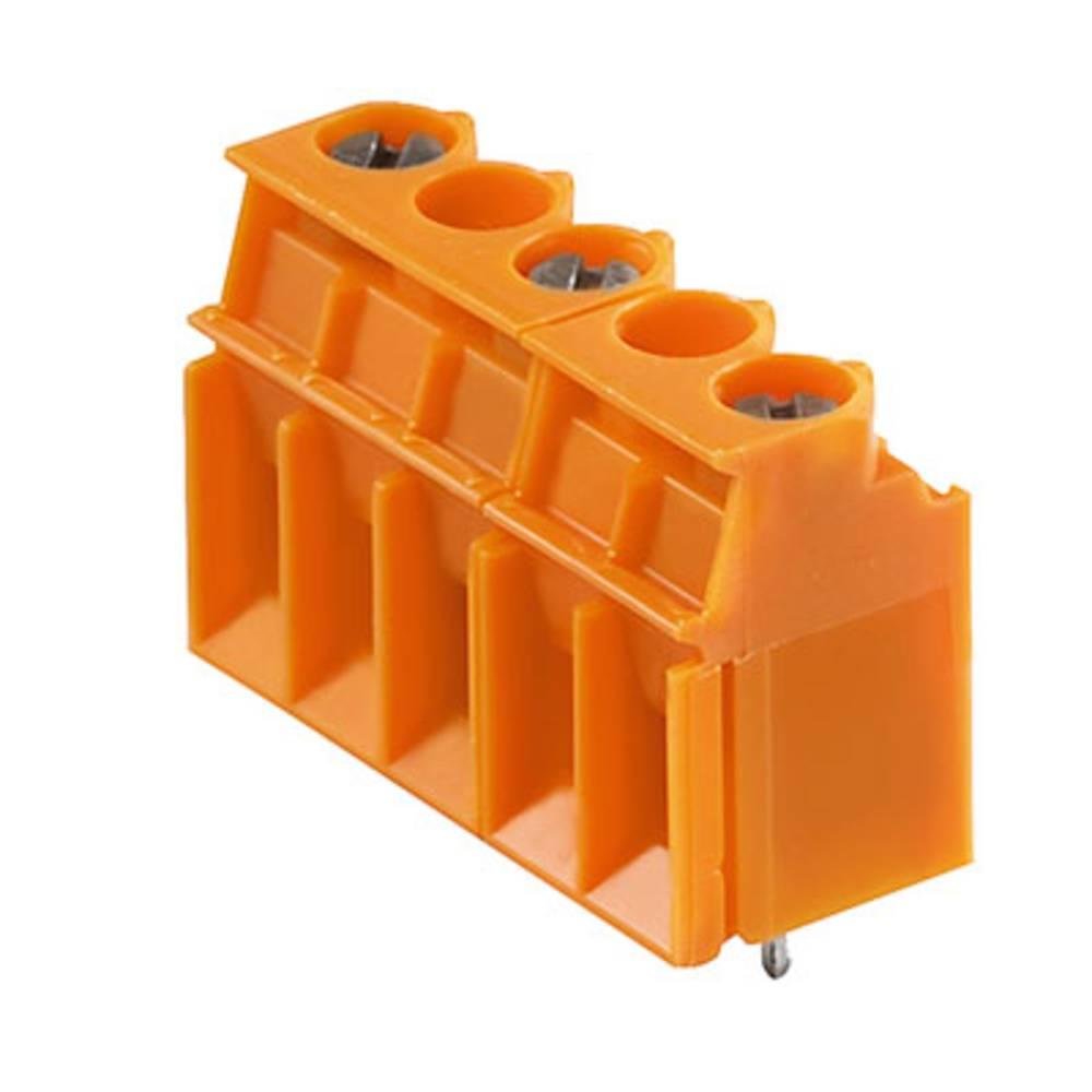Skrueklemmeblok Weidmüller LP 10.00/07/90 4.5SN OR BX 4.00 mm² Poltal 7 Orange 50 stk