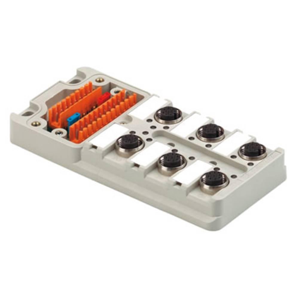 Sensor/aktorbox passiv M12-fordeler med metalgevind SAI-6-M 5P M12 UT 1701241000 Weidmüller 2 stk