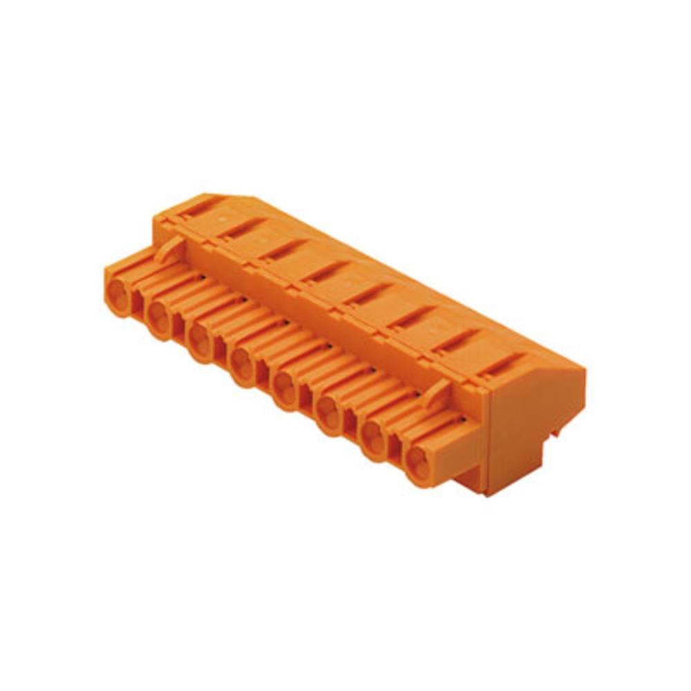 Vtični konektor za tiskana vezja oranžne barve Weidmüller 1702330000 vsebuje: 18 kosov