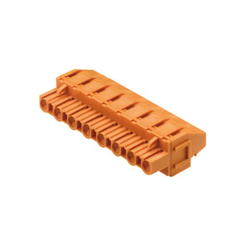 Vtični konektor za tiskana vezja oranžne barve Weidmüller 1702540000 vsebuje: 18 kosov