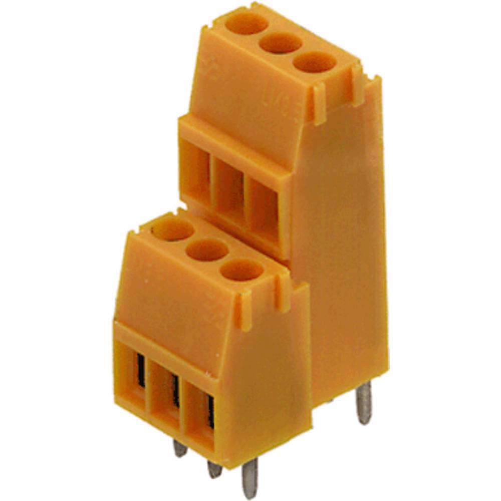 Dobbeltrækkeklemme Weidmüller LM2N 3.50/04/90 3.2SN OR BX 1.50 mm² Poltal 4 Orange 100 stk