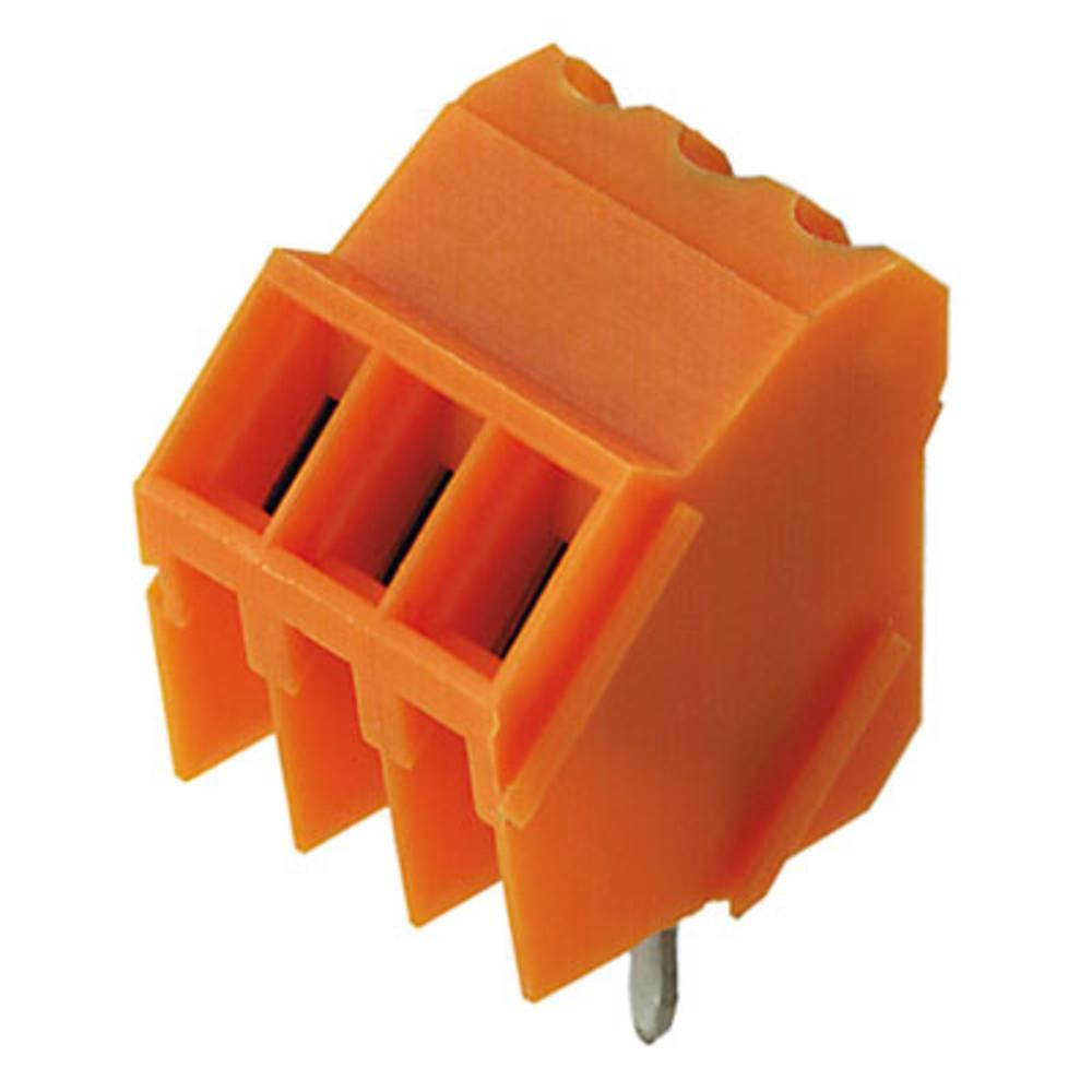 Skrueklemmeblok Weidmüller LM 3.50/03/135 3.2SN OR BX 1.50 mm² Poltal 3 Orange 100 stk