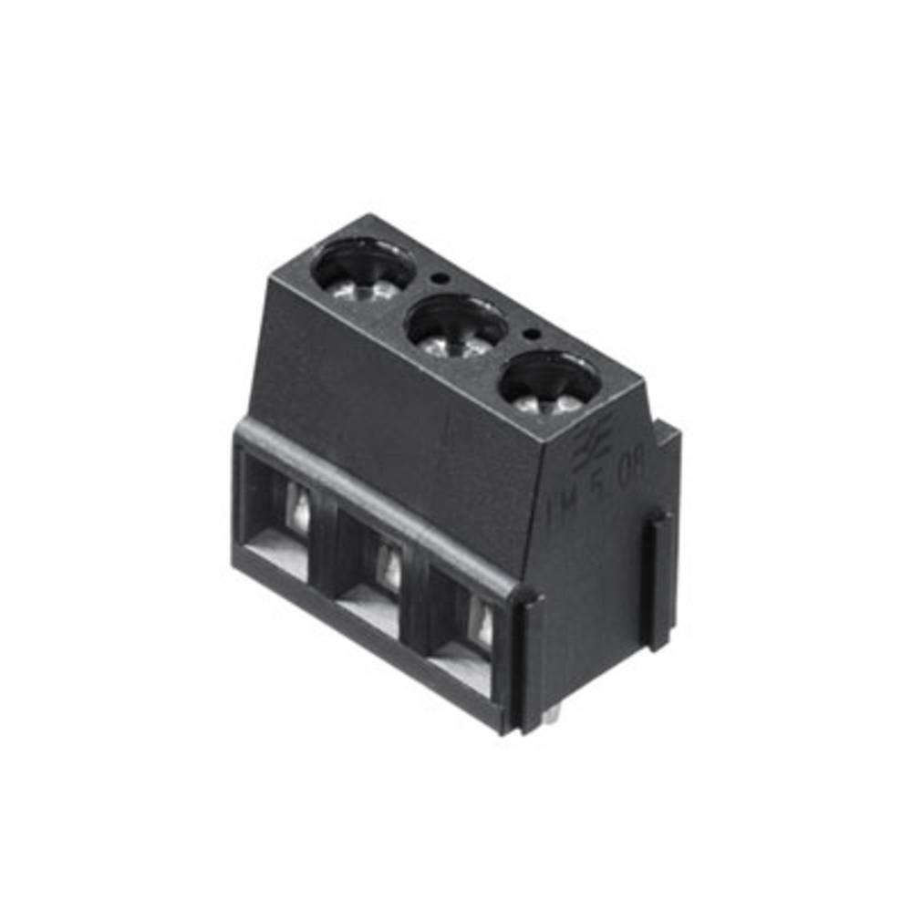 Skrueklemmeblok Weidmüller LM 5.08/03/90 3.5SN BK BX 2.50 mm² Poltal 3 Sort 500 stk