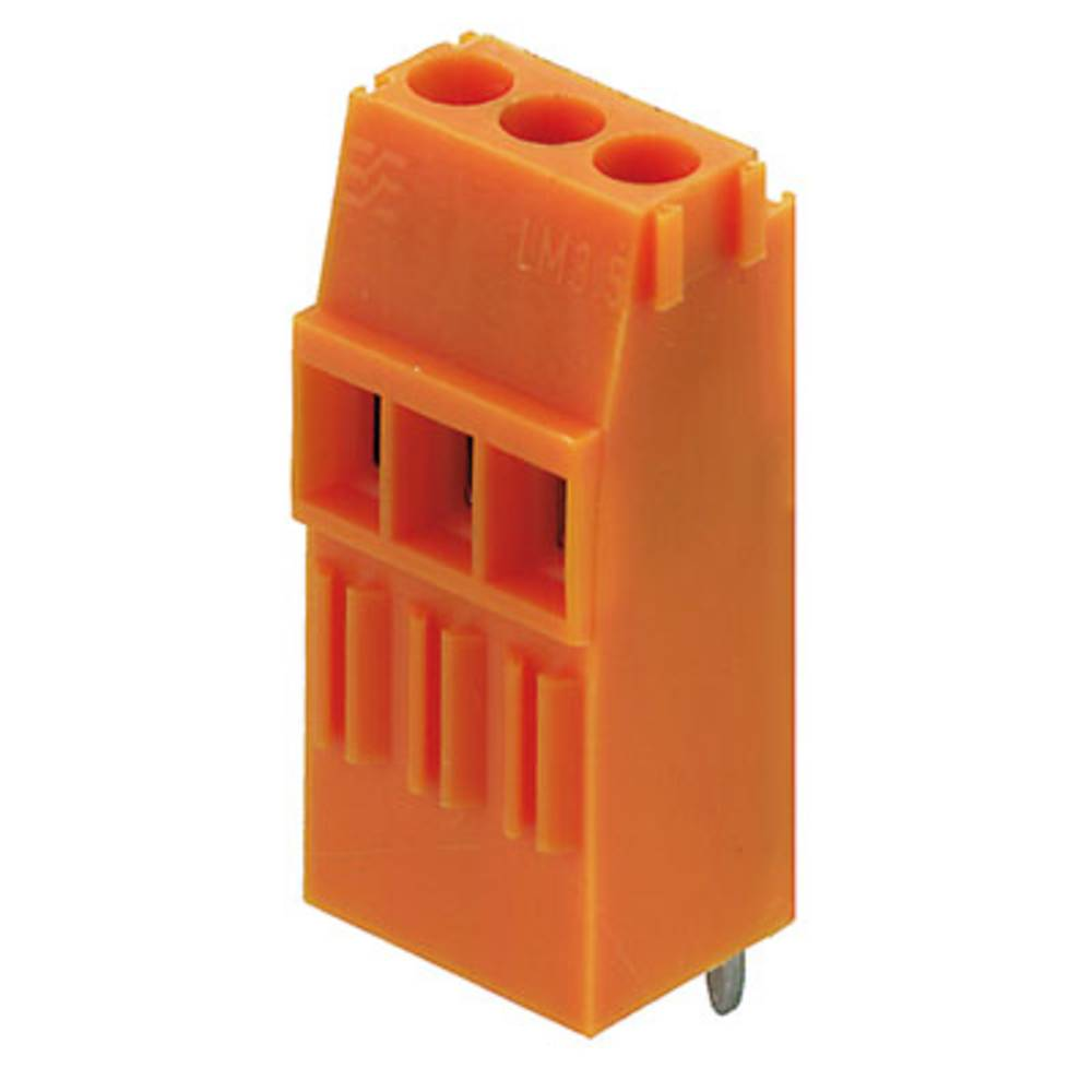 Skrueklemmeblok Weidmüller LM1N 3.50/03/90 3.2SN OR BX 1.50 mm² Poltal 3 Orange 100 stk