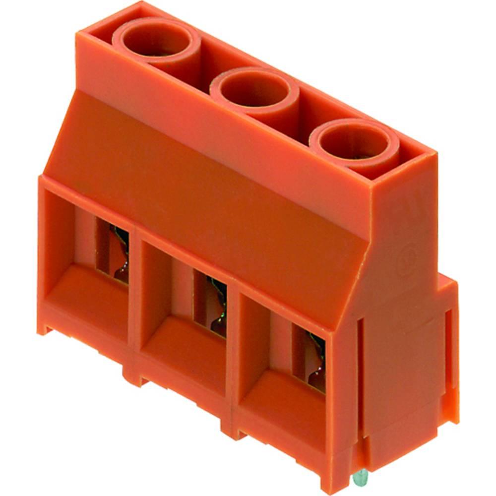 Skrueklemmeblok Weidmüller LL 9.52/02/90 5.0SN OR BX 4.00 mm² Poltal 2 Orange 100 stk