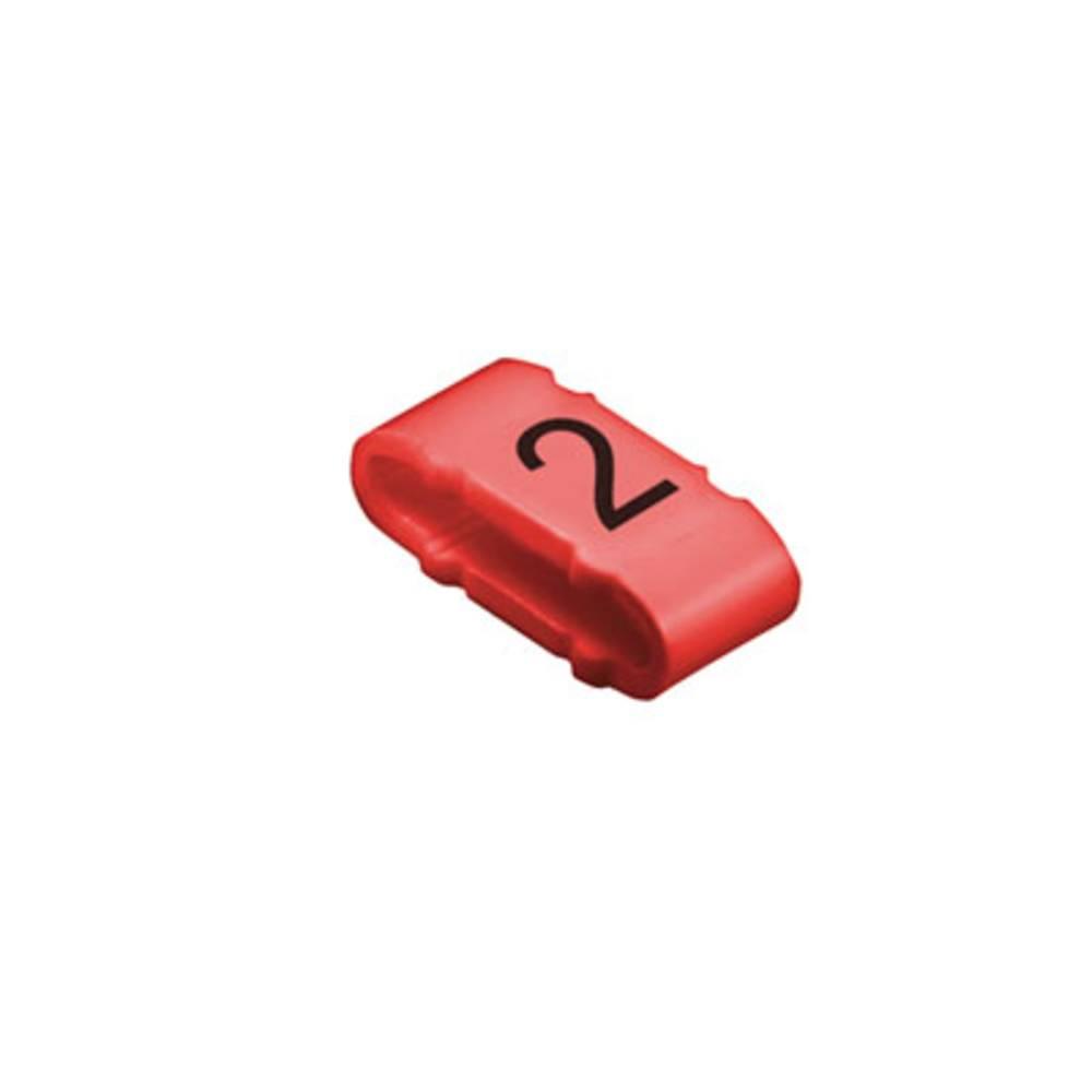 Mærkningsring Weidmüller CLI M 2-4 RT/SW 2 MP 1733651509 Rød 100 stk