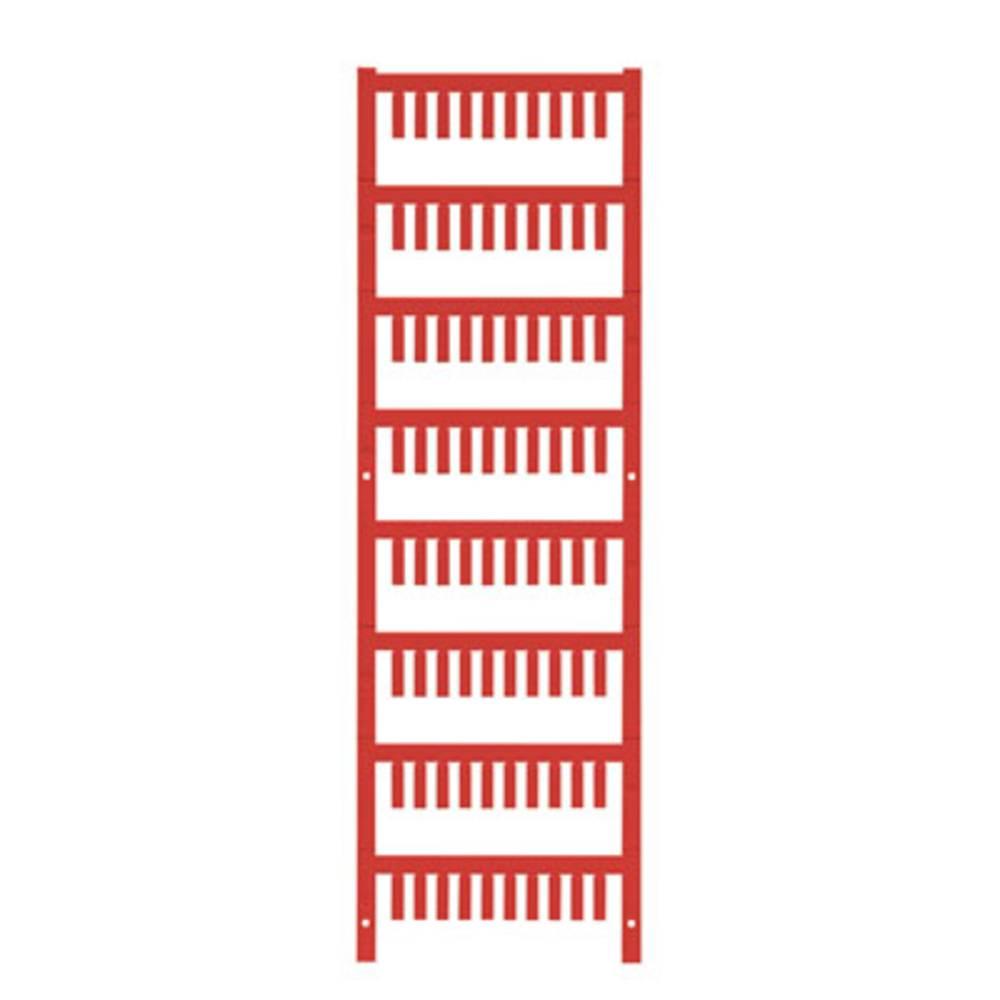 Ledermarkør Weidmüller VT SF 0/12 NEUTRAL RT V0 1752110003 800 stk Antal markører 800 Rød
