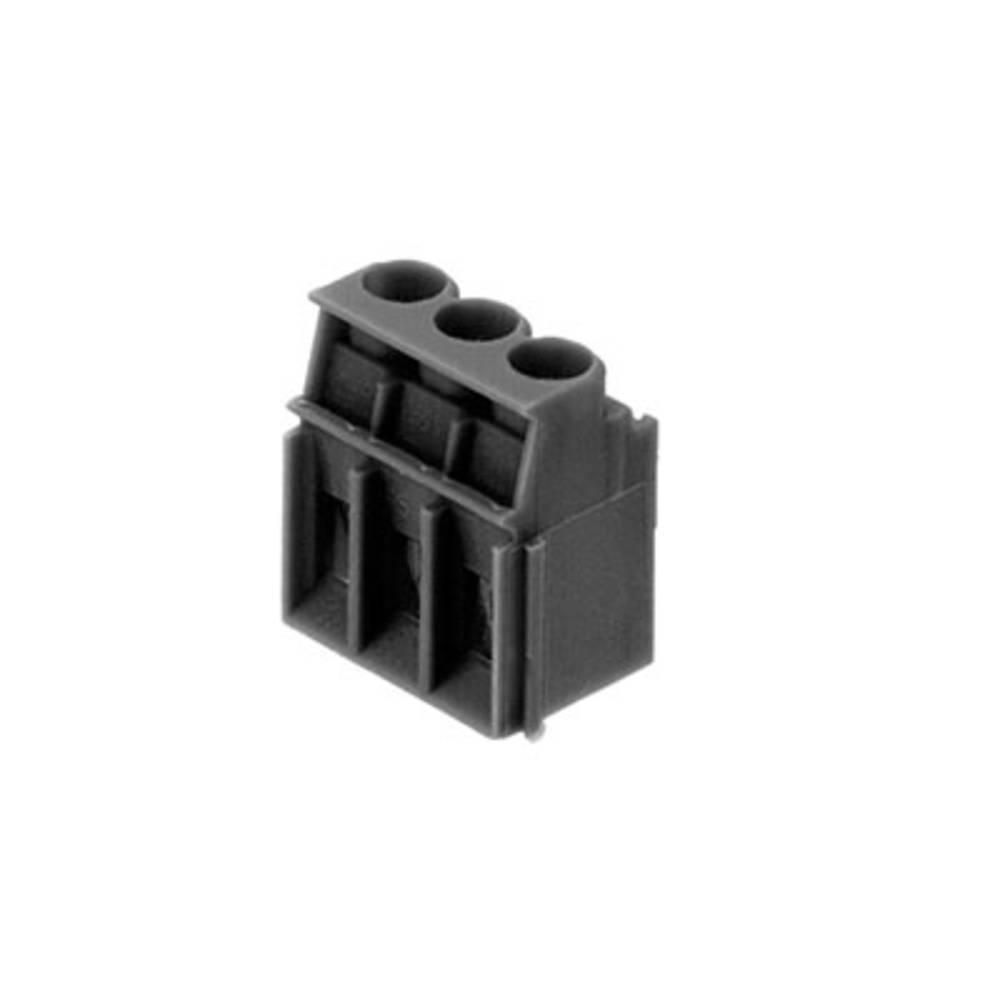 Skrueklemmeblok Weidmüller LP 5.08/03/90 3.2SN BK BX 4.00 mm² Poltal 3 Sort 100 stk