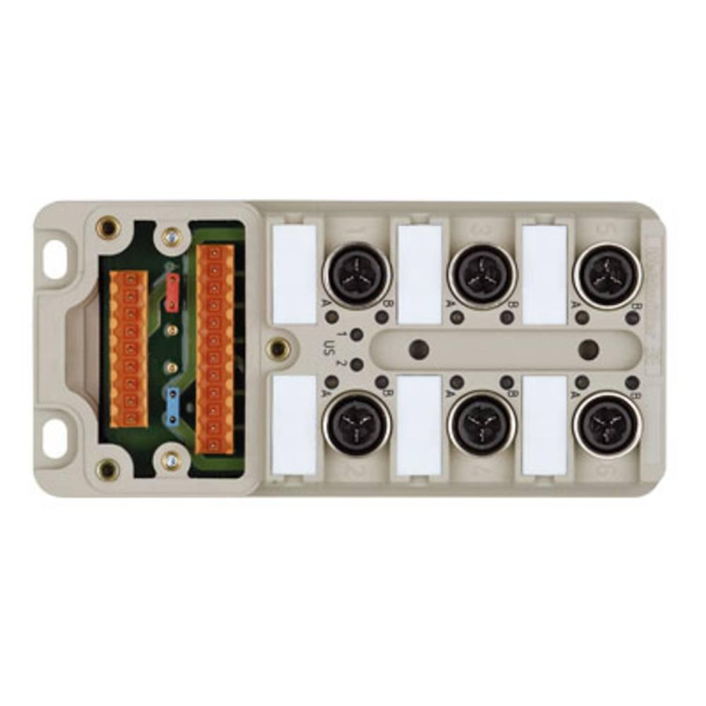 Sensor/aktorbox passiv M12-fordeler med metalgevind SAI-6-M 4P IDC UT 1766791000 Weidmüller 2 stk