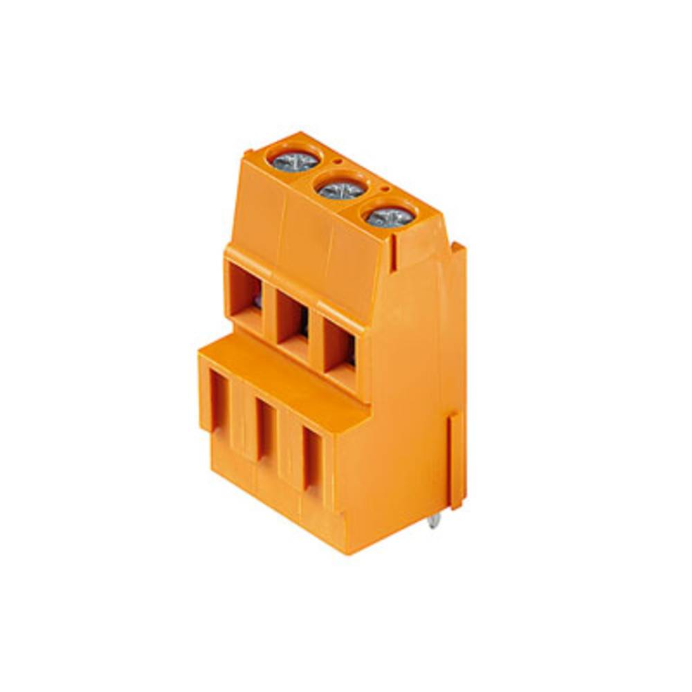 Skrueklemmeblok Weidmüller LM1N 5.08/03/90 3.5SN OR BX 2.50 mm² Poltal 3 Orange 100 stk