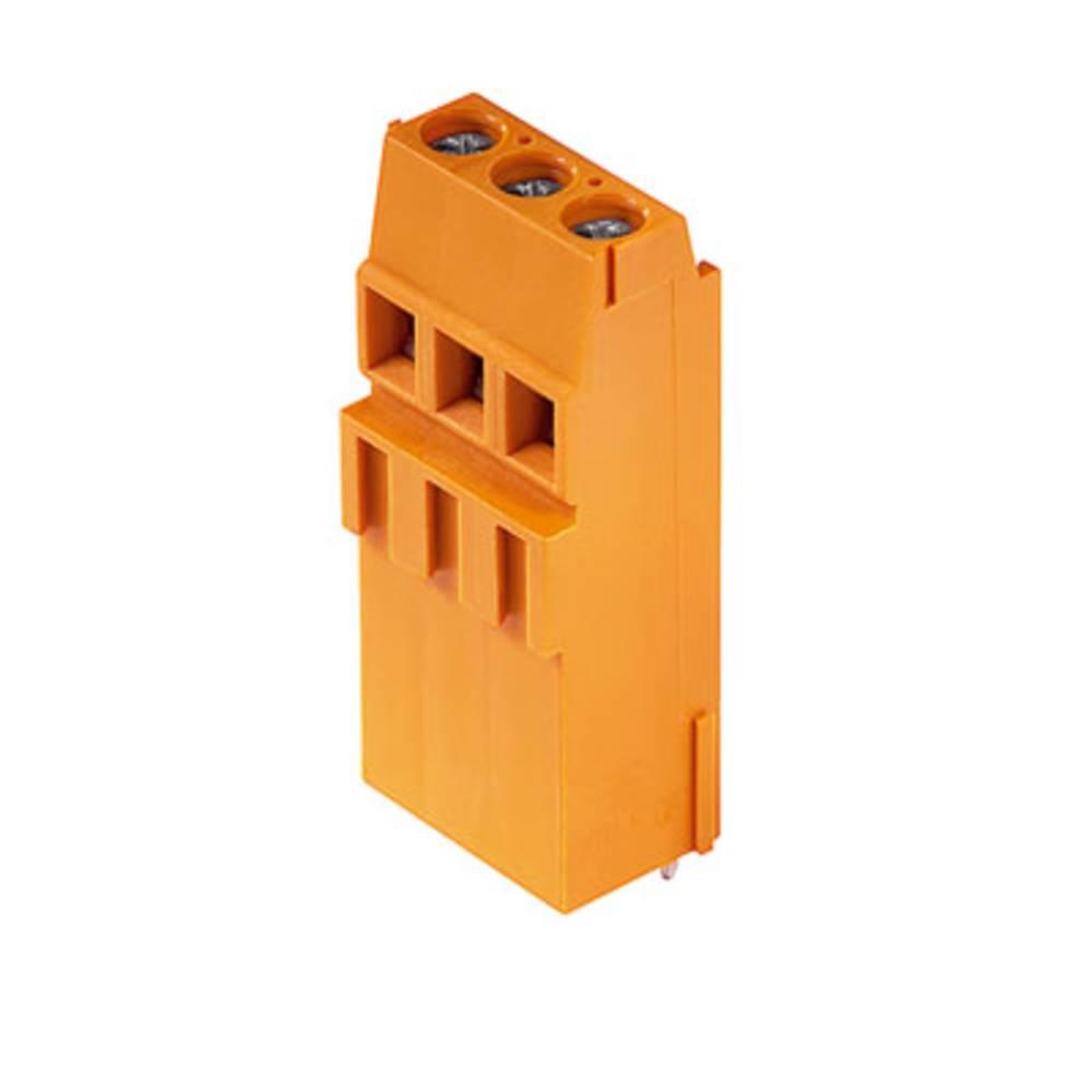 Skrueklemmeblok Weidmüller LM1H 5.08/03/90 3.5SN OR BX 1.50 mm² Poltal 3 Orange 100 stk